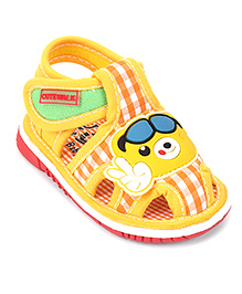 Cute Walk by Babyhug Sandals Cartoon Patch - Yellow