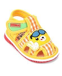 Cute Walk by Babyhug Sandals Cartoon Patch - Yellow