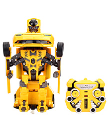 Smile Creations Remote Control Troopers Fierce Transformer Robot Cum Car Toy - Yellow