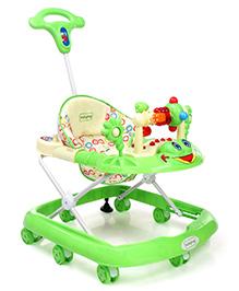 Babyhug First Walk Musical Baby Walker - Green