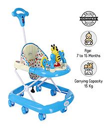 Babyhug Honey Bee Musical Baby Walker - Blue