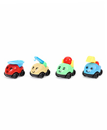 Super Power Toy Truck Set Of 4 - Multicolor