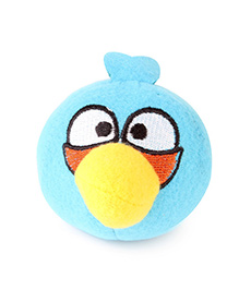 Flyers Bay Angry Bird Plush Soft Toy With Detachable Keychain - Blue
