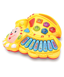 Musical Cartoon Train Shape Piano Toy (Color May Vary)