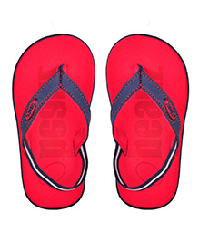 Beanz Flip Flops With Back Strap - Navy Red