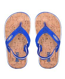 Beanz Flip Flops With Back Strap - Blue Light Brown