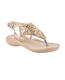 Beanz Party Sandals Shimmer Detailing - Golden
