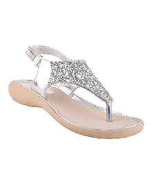 Beanz Party Sandals Shimmer Detailing - Silver