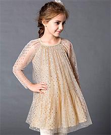Dress My Angel Glitter Your Way Dress - Golden