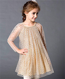 Dress My Angel Glitter Your Way Dress - Golden