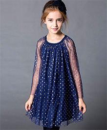 Dress My Angel Shining Heart Dress - Blue