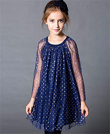 Dress My Angel Shining Heart Dress - Blue