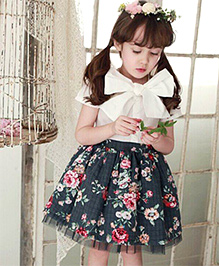 Dress My Angel Flower Princes Dress - Black