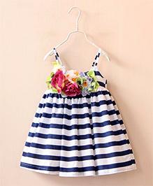 Dress My Angel Flower Glamour Dress - Blue & White