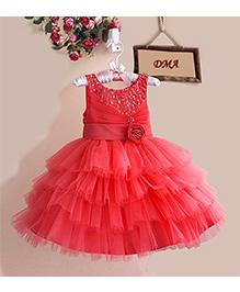 Dress My Angel Vintage Rose Dress - Pink