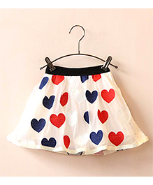 Dress My Angel Little Hearts Skirt - Off White