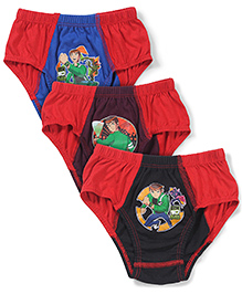 Ben 10 Briefs Pack of 3 - Red Black Maroon Blue