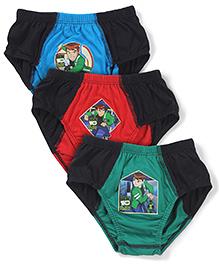 Ben 10 Briefs Pack of 3 - Red Black Green Blue