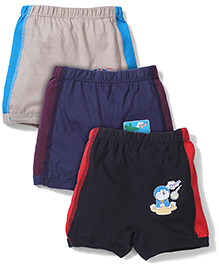 Doraemon Briefs Black Grey And Blue - Pack Of 3