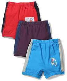 Doraemon Briefs Red Purple And Blue - Pack Of 3