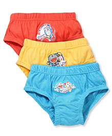 Doraemon Printed Briefs Set Of 3 - Orange Yellow Blue
