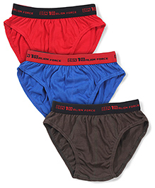 Ben 10 Briefs Pack of 3 - Brown Royal Blue Red