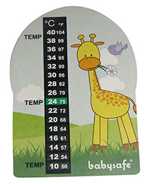 LCR Hallcrest Nursery Thermometer Giraffe Print - Multicolor