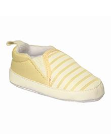 Kiwi Slip-On Stripe Booties - White Beige