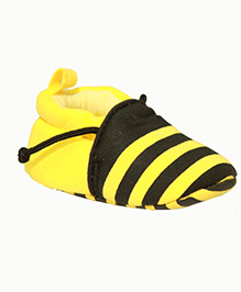Kiwi Slip On Booties Bumble Bee Pattern - Yellow and Black
