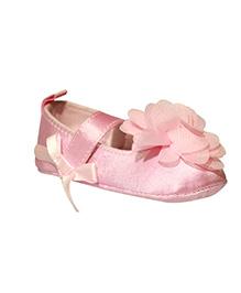 Kiwi Booties Floral Applique - Pink