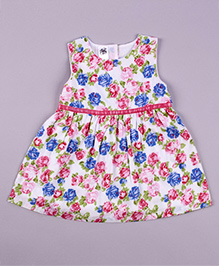 Petite Kids A Bloom Of Pampons Dress - Multicolour