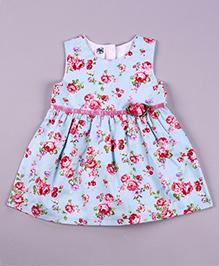 Petite Kids Vintage Flower Dress - Blue