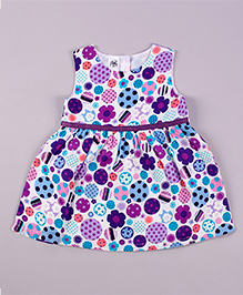 Petite Kids Issey Lollypop Dress - Blue & Purple
