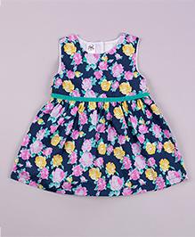 Petite Kids Royal Orient Dress - Navy