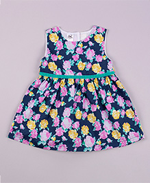 Petite Kids Royal Orient Dress - Navy
