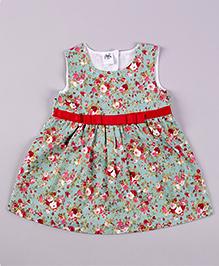 Petite Kids Blossom Beauty Dress - Green & Red