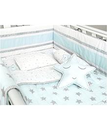Masilo Linen For Littles Complete Cot Set With Dohar - Blue