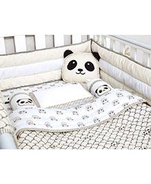 Masilo Linen For Littles Complete Cot Set With Dohar - Grey