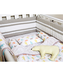 Masilo Linen For Littles Complete Cot Set With Dohar - Multicolor