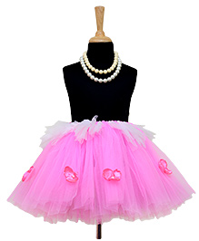 Tu Ti Tu Stylish Princess Tutu Skirt - Pink & White