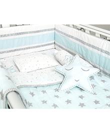 Masilo Linen For Littles Complete Cot Set With Quilt - Blue
