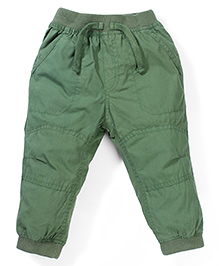 Cucumber Plain Solid Color Track Pant - Green