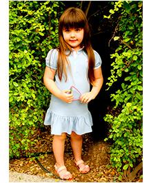 Cherry Crumble California Polo Shirt Dress - Blue