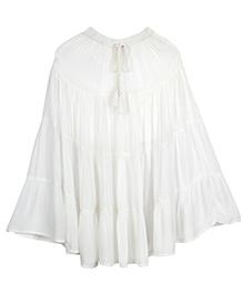 Teeny Tantrums White Ankle Length Skirt - White