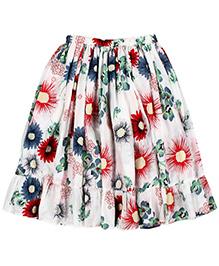 Teeny Tantrums Long Midi Skirt - Multicolor
