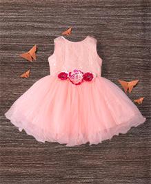 M'Princess Alluring Trendy Party  Dress - Peach