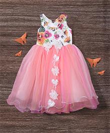 M'Princess Floral Detailing Gown - Peach