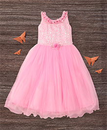 M'Princess Flower Design Gown - Pink