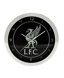 Liverpool FC Metallic Wall Clock - Black & White