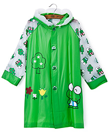 Pre Order : Superfie Frog Raincoat - Green